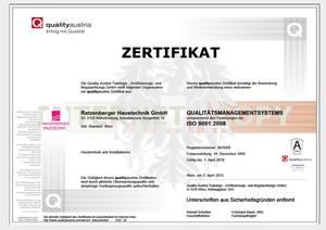 Zertifikat iso9000